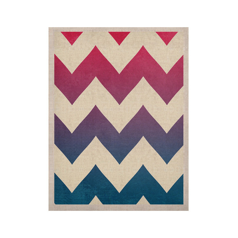 "Catherine McDonald ""Fade to Blue"" Chevron KESS Naturals Canvas (Frame not Included) - KESS InHouse  - 1"