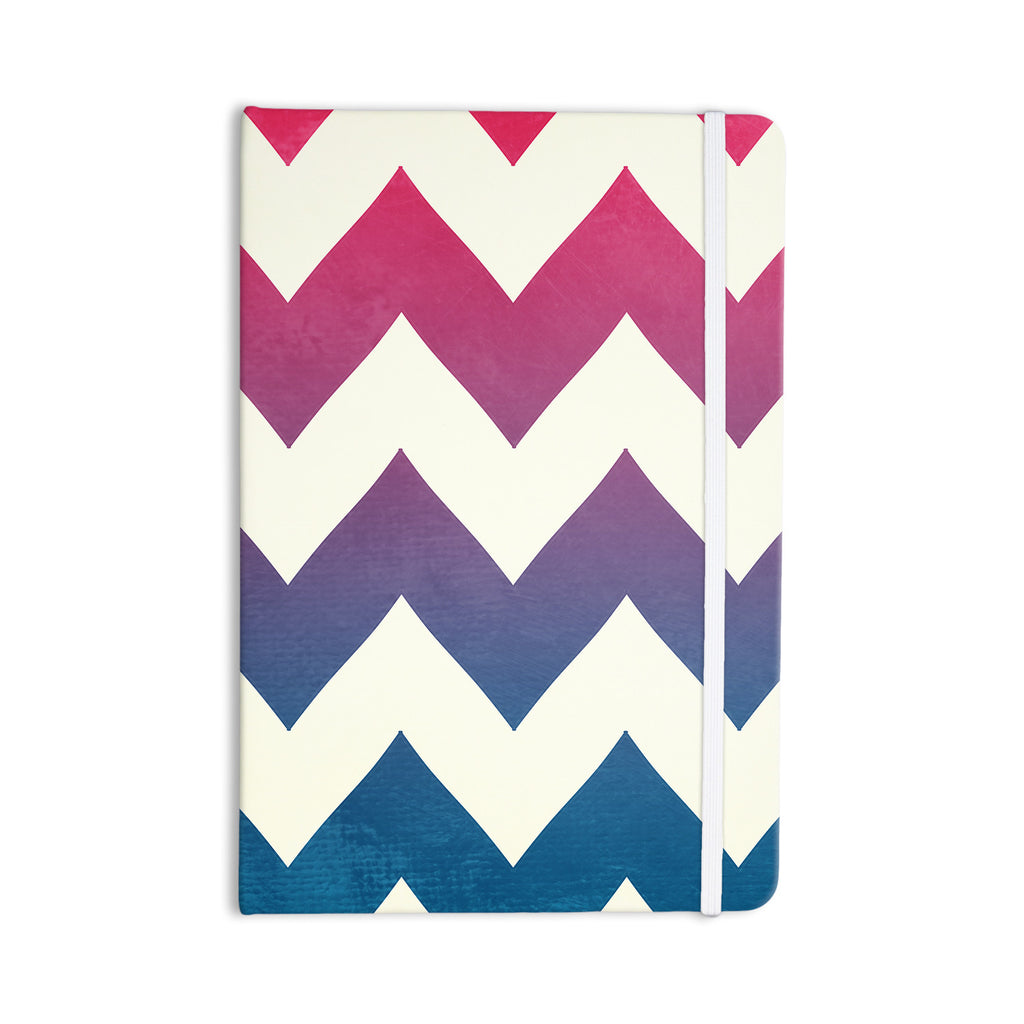 "Catherine McDonald ""Fade to Blue"" Chevron Everything Notebook - KESS InHouse  - 1"
