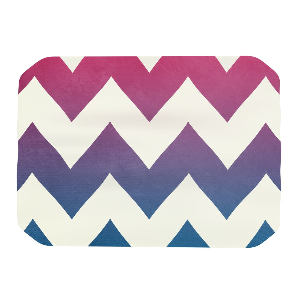 "Catherine McDonald ""Fade to Blue"" Chevron Place Mat - KESS InHouse"