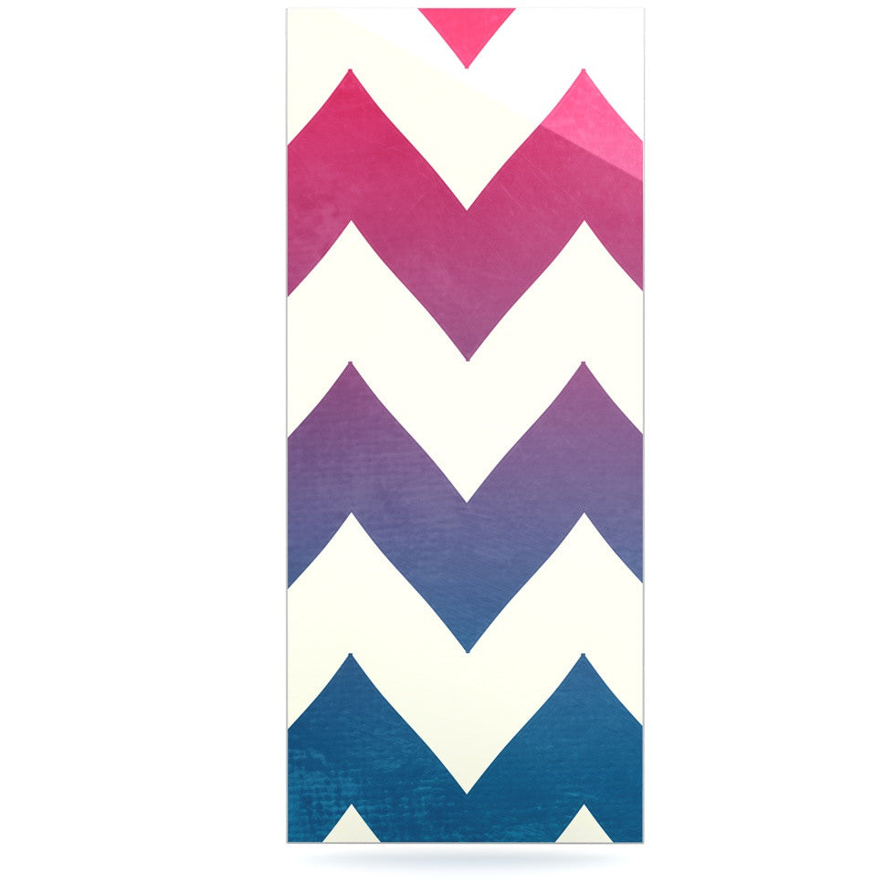 "Catherine McDonald ""Fade to Blue"" Chevron Luxe Rectangle Panel - KESS InHouse  - 1"