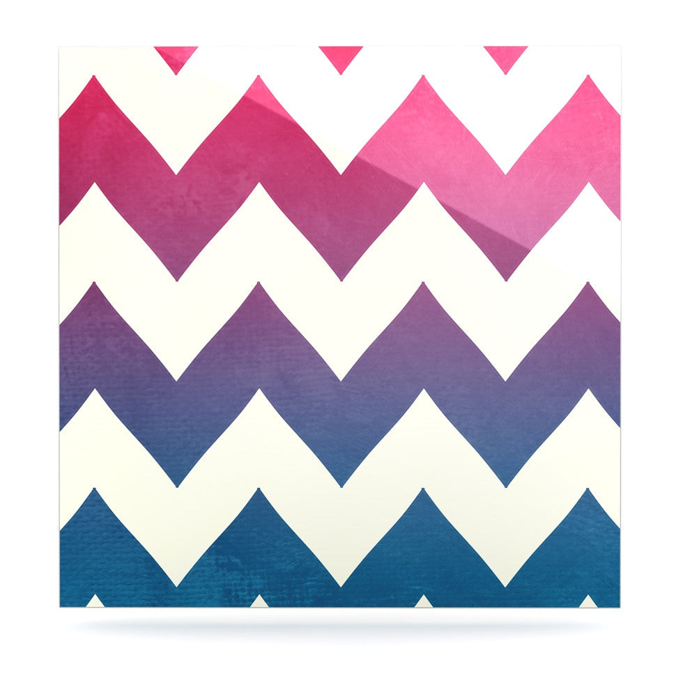 "Catherine McDonald ""Fade to Blue"" Chevron Luxe Square Panel - KESS InHouse  - 1"