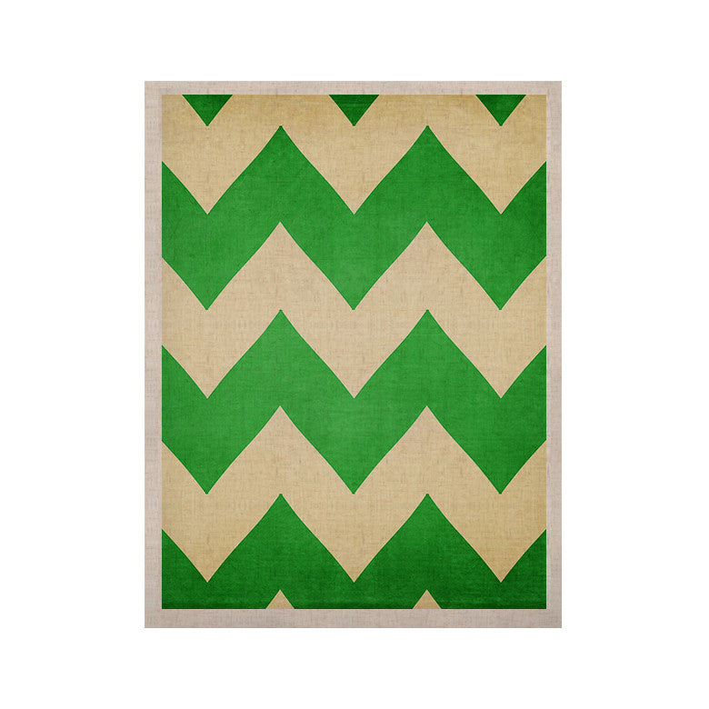 "Catherine McDonald ""Granny Smith"" Green Chevron KESS Naturals Canvas (Frame not Included) - KESS InHouse  - 1"