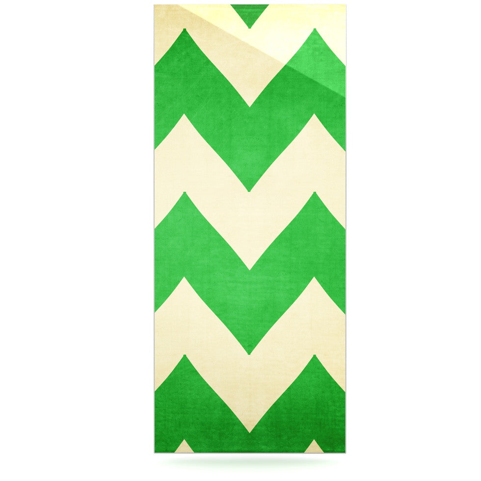 "Catherine McDonald ""Granny Smith"" Green Chevron Luxe Rectangle Panel - KESS InHouse  - 1"