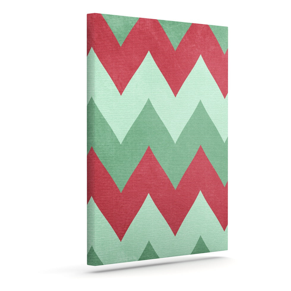 "Catherine McDonald ""Holiday Chevrons"" Outdoor Canvas Wall Art - KESS InHouse  - 1"