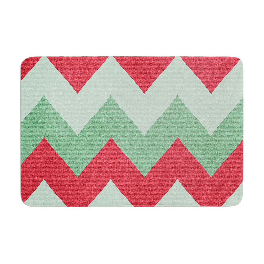 "Catherine McDonald ""Holiday Chevrons"" Memory Foam Bath Mat - KESS InHouse"