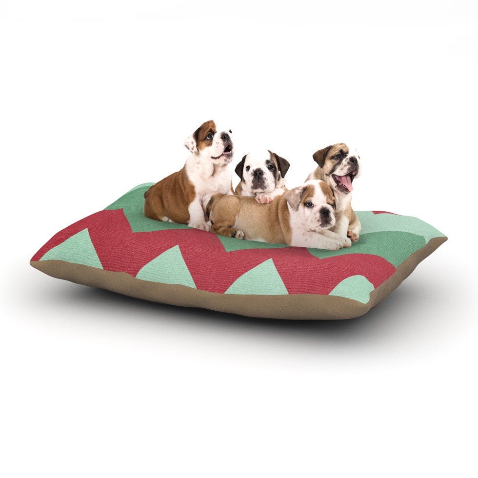 "Catherine McDonald ""Holiday Chevrons"" Dog Bed - KESS InHouse  - 1"