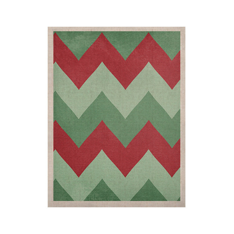 "Catherine McDonald ""Holiday Chevrons"" KESS Naturals Canvas (Frame not Included) - KESS InHouse  - 1"