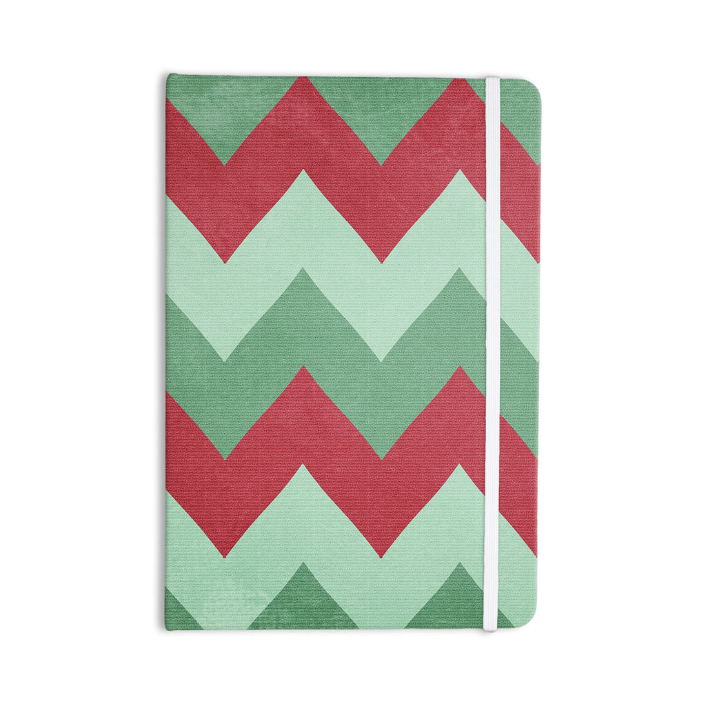 "Catherine McDonald ""Holiday Chevrons"" Everything Notebook - KESS InHouse  - 1"