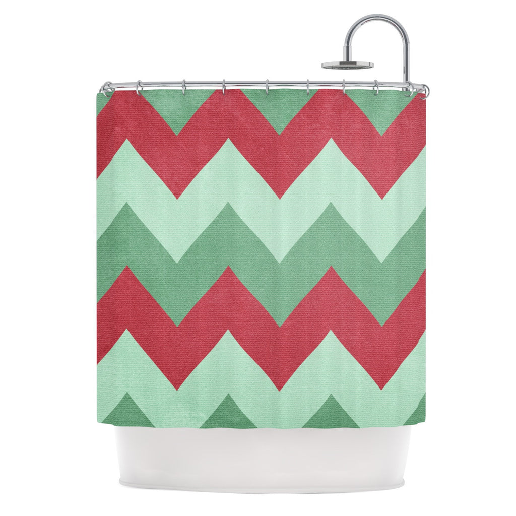 "Catherine McDonald ""Holiday Chevrons"" Shower Curtain - KESS InHouse"
