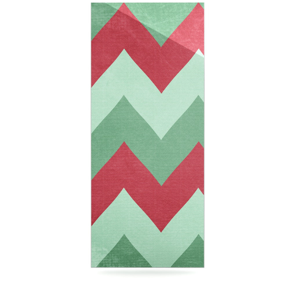 "Catherine McDonald ""Holiday Chevrons"" Luxe Rectangle Panel - KESS InHouse  - 1"