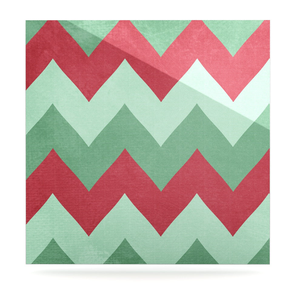 "Catherine McDonald ""Holiday Chevrons"" Luxe Square Panel - KESS InHouse  - 1"