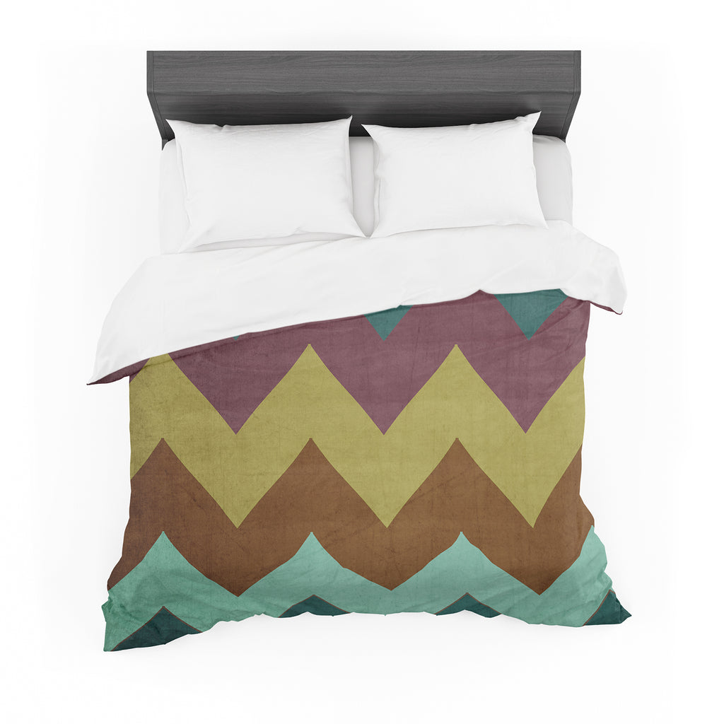 "Catherine McDonald ""Mountain High"" Art Object Featherweight Duvet Cover"