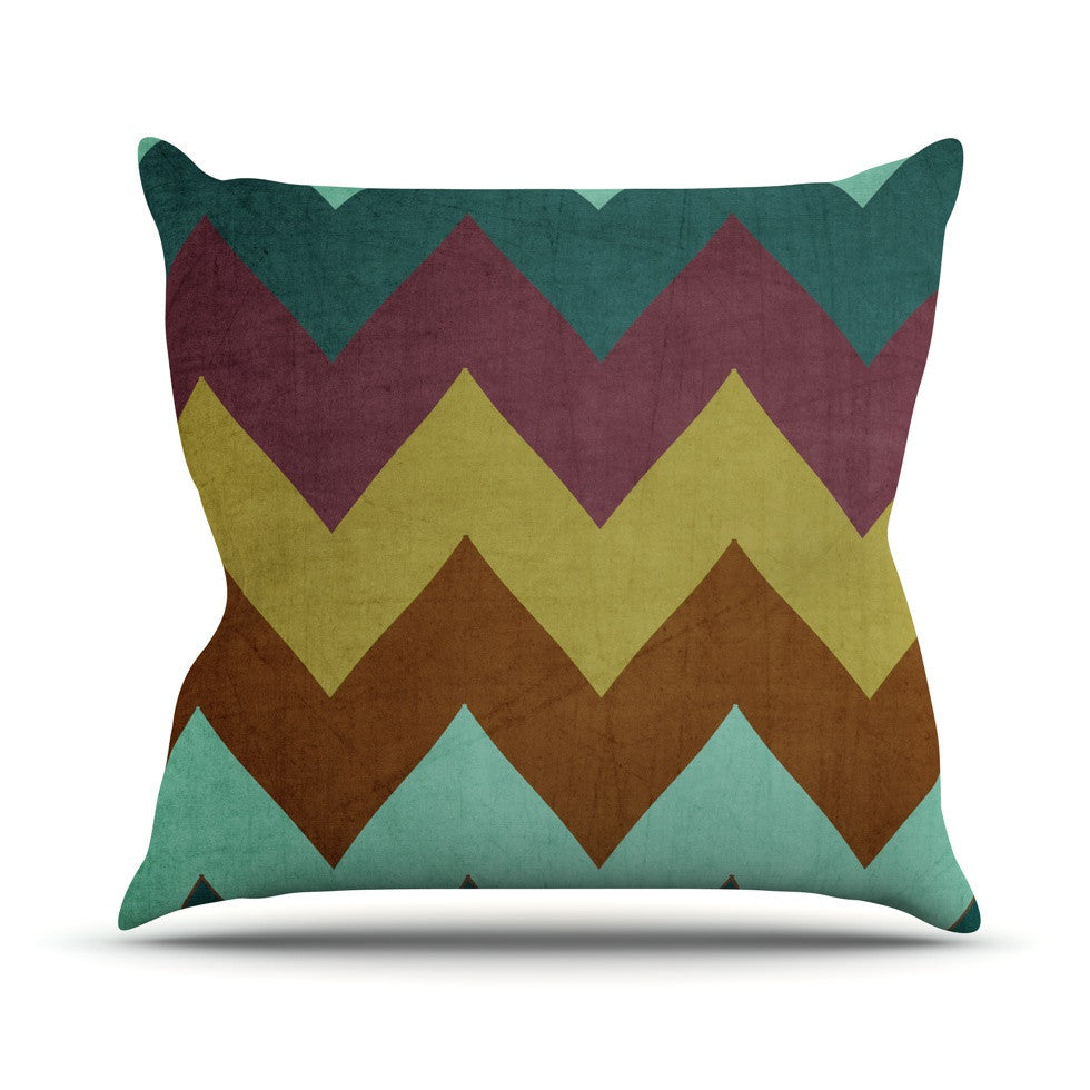 "Catherine McDonald ""Mountain High"" Art Object Outdoor Throw Pillow - KESS InHouse  - 1"