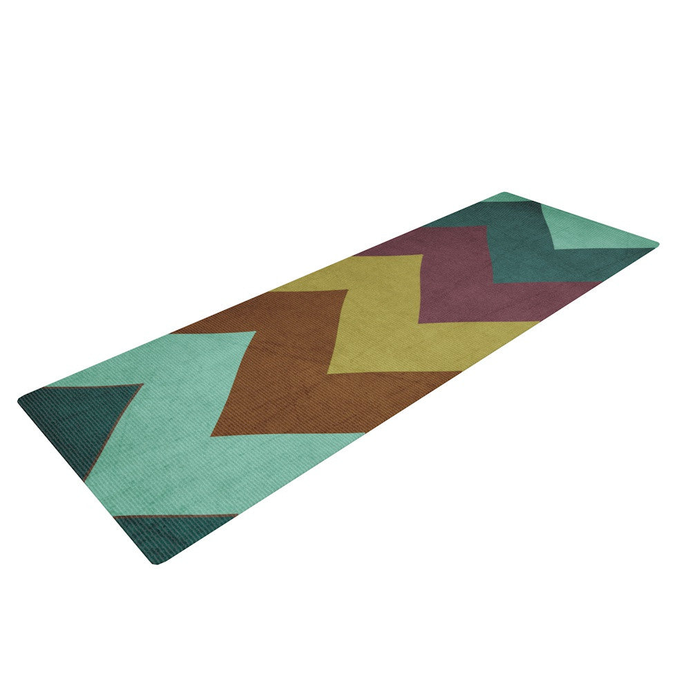 "Catherine McDonald ""Mountain High"" Art Object Yoga Mat - KESS InHouse  - 1"