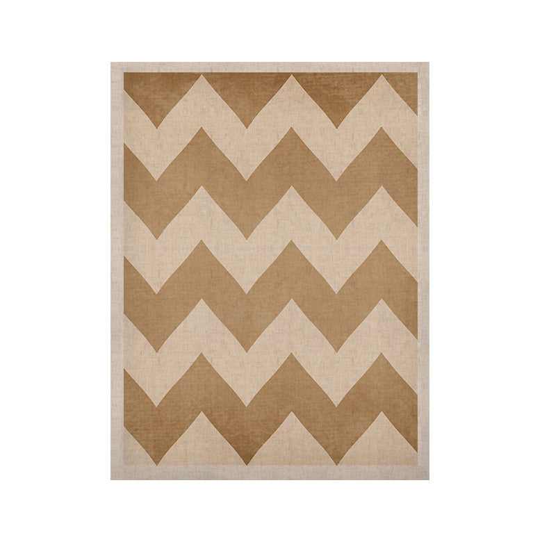 "Catherine McDonald ""Biscotti and Cream"" Chevron KESS Naturals Canvas (Frame not Included) - KESS InHouse  - 1"