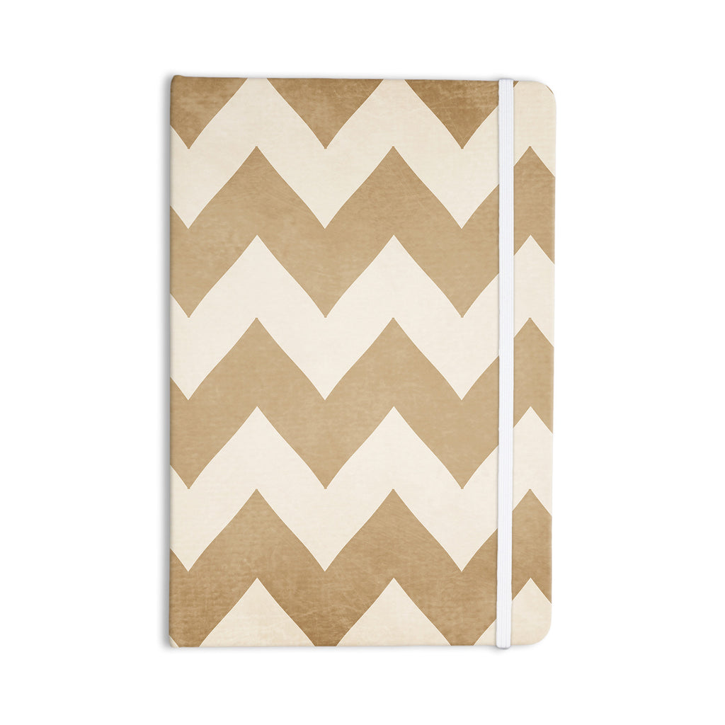 "Catherine McDonald ""Biscotti and Cream"" Chevron Everything Notebook - KESS InHouse  - 1"