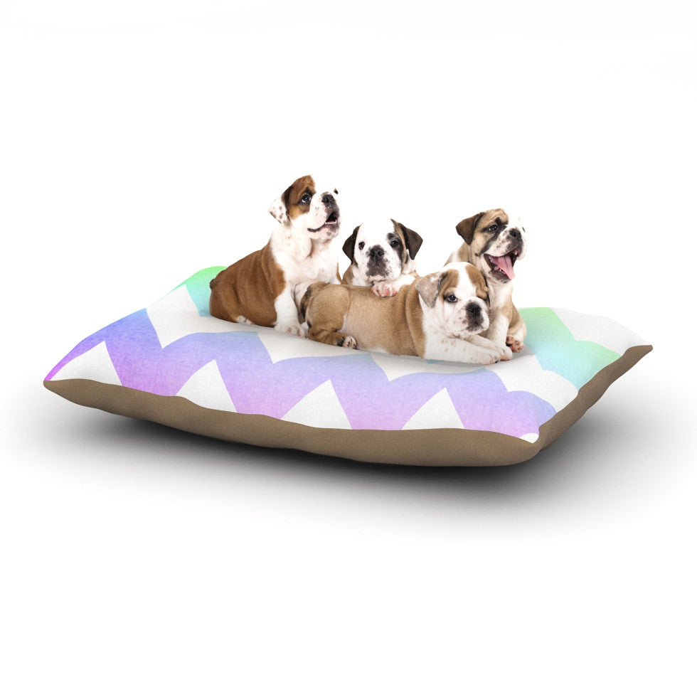 "Catherine McDonald ""Water Color"" Chevron Dog Bed - KESS InHouse  - 1"