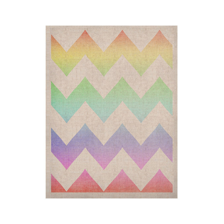 "Catherine McDonald ""Water Color"" Chevron KESS Naturals Canvas (Frame not Included) - KESS InHouse  - 1"