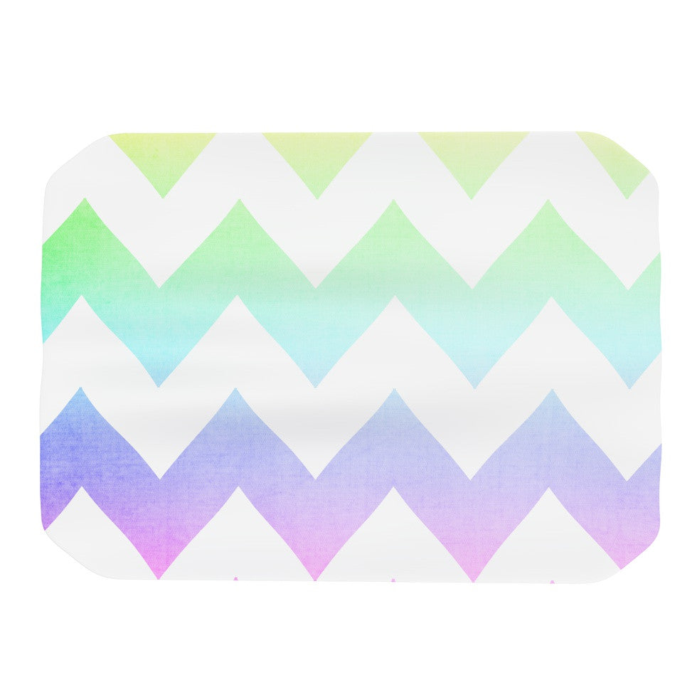 "Catherine McDonald ""Water Color"" Chevron Place Mat - KESS InHouse"