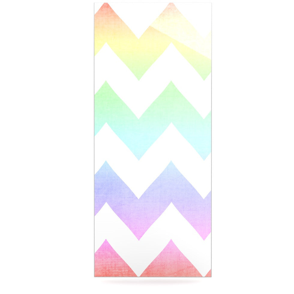 "Catherine McDonald ""Water Color"" Chevron Luxe Rectangle Panel - KESS InHouse  - 1"