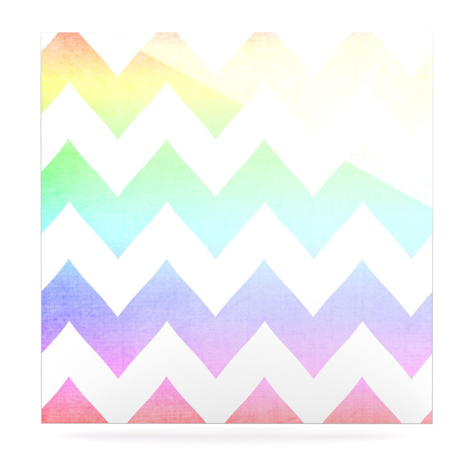 "Catherine McDonald ""Water Color"" Chevron Luxe Square Panel - KESS InHouse  - 1"