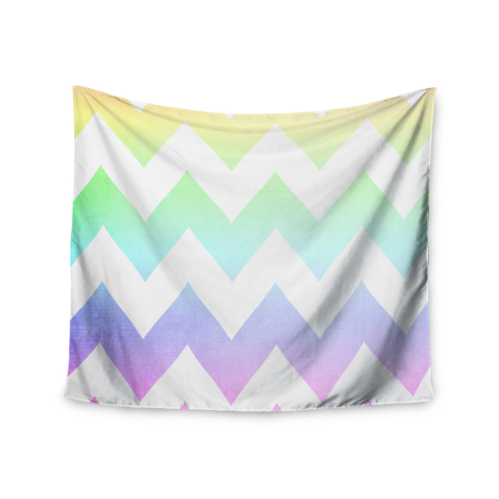 "Catherine McDonald ""Water Color"" Chevron Wall Tapestry - KESS InHouse  - 1"