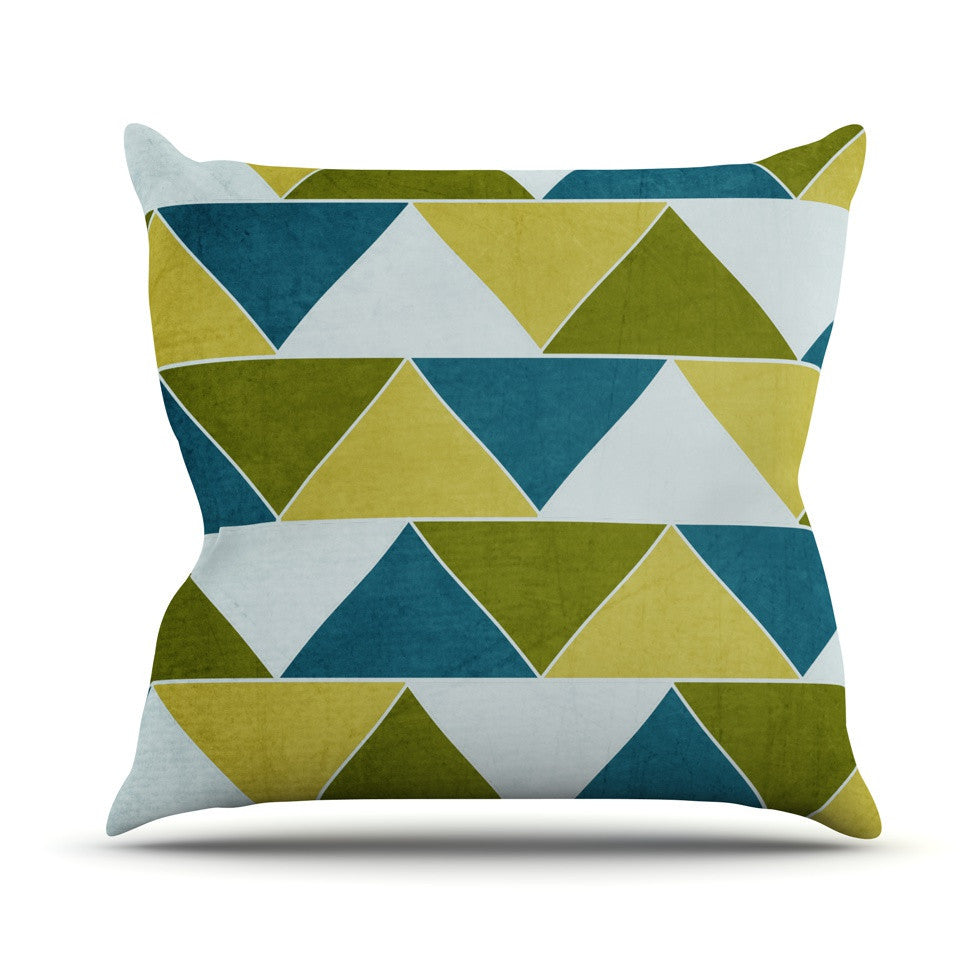 "Catherine McDonald ""Mediterranean"" Outdoor Throw Pillow - KESS InHouse  - 1"