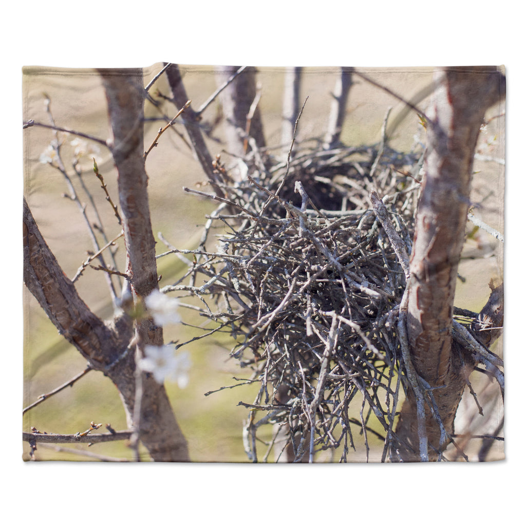 "Catherine McDonald ""Nest"" Fleece Throw Blanket"
