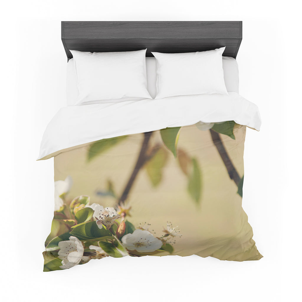 "Catherine McDonald ""Pear Blossom"" Featherweight Duvet Cover"