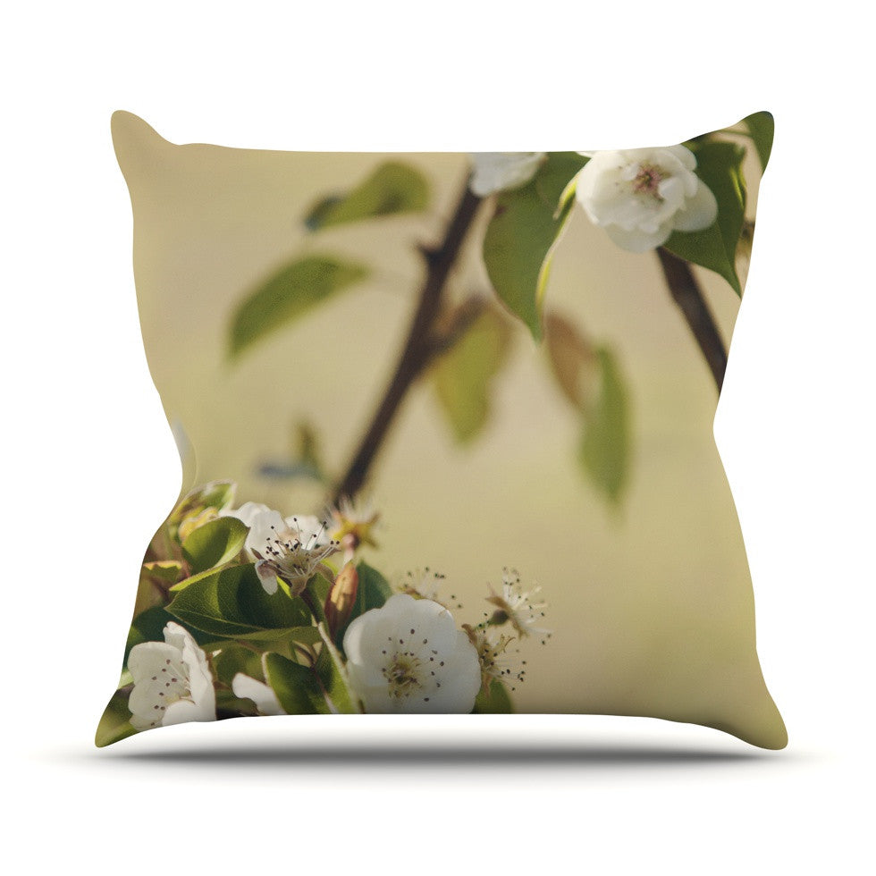 "Catherine McDonald ""Pear Blossom"" Throw Pillow - KESS InHouse  - 1"