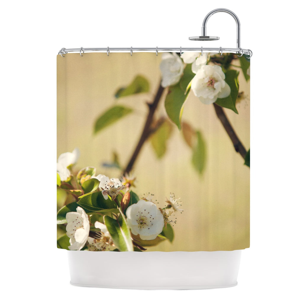"Catherine McDonald ""Pear Blossom"" Shower Curtain - KESS InHouse"