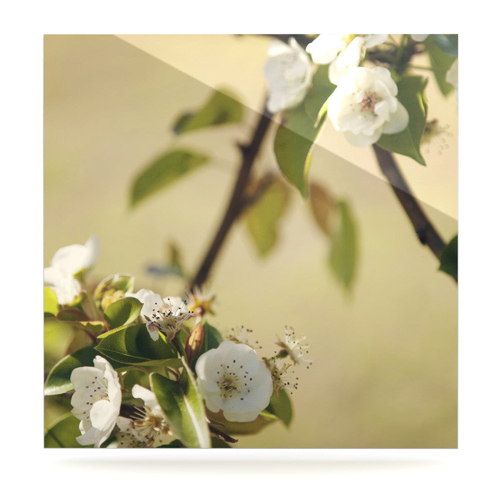 "Catherine McDonald ""Pear Blossom"" Luxe Square Panel - KESS InHouse  - 1"