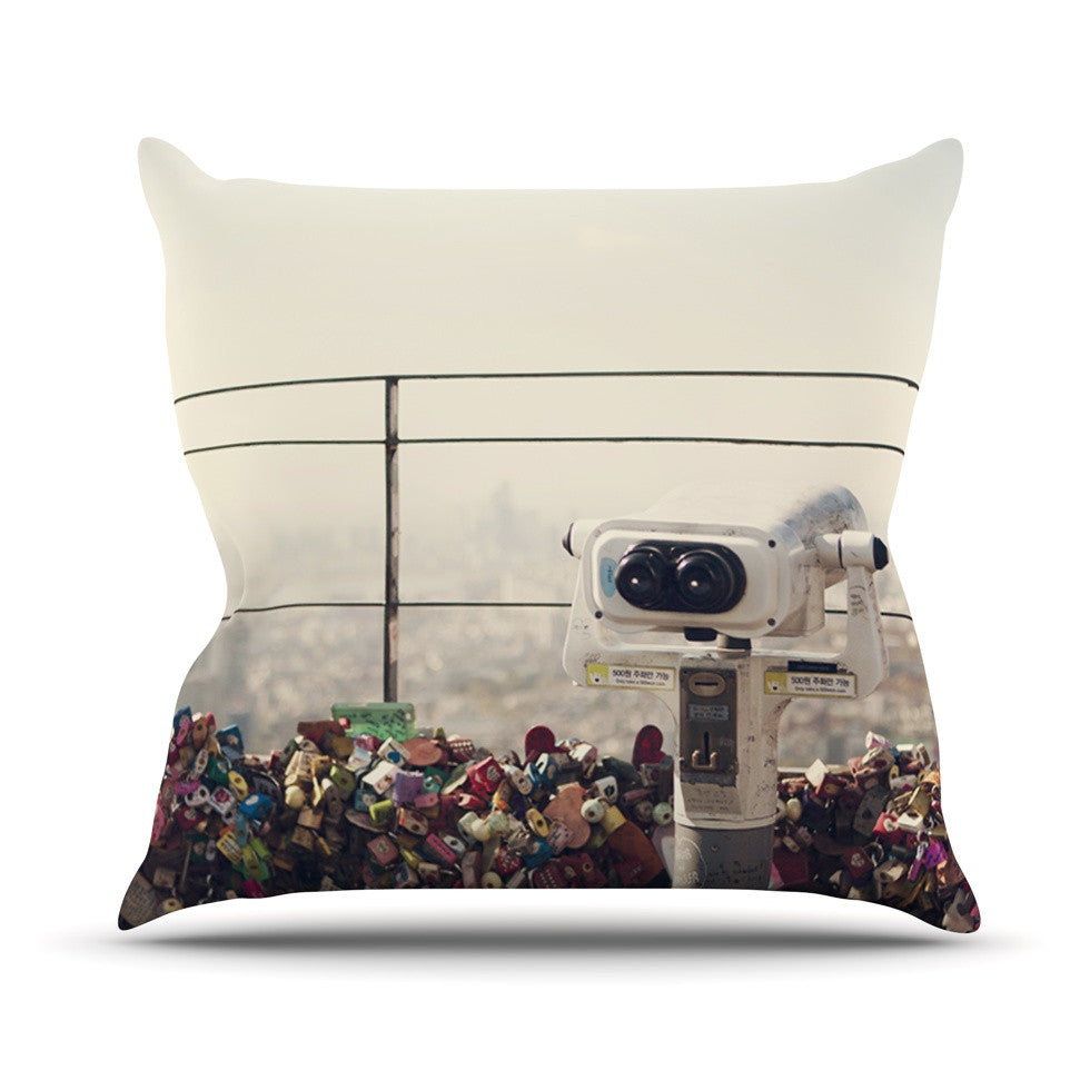 "Catherine McDonald ""The View Seoul"" Throw Pillow - KESS InHouse  - 1"