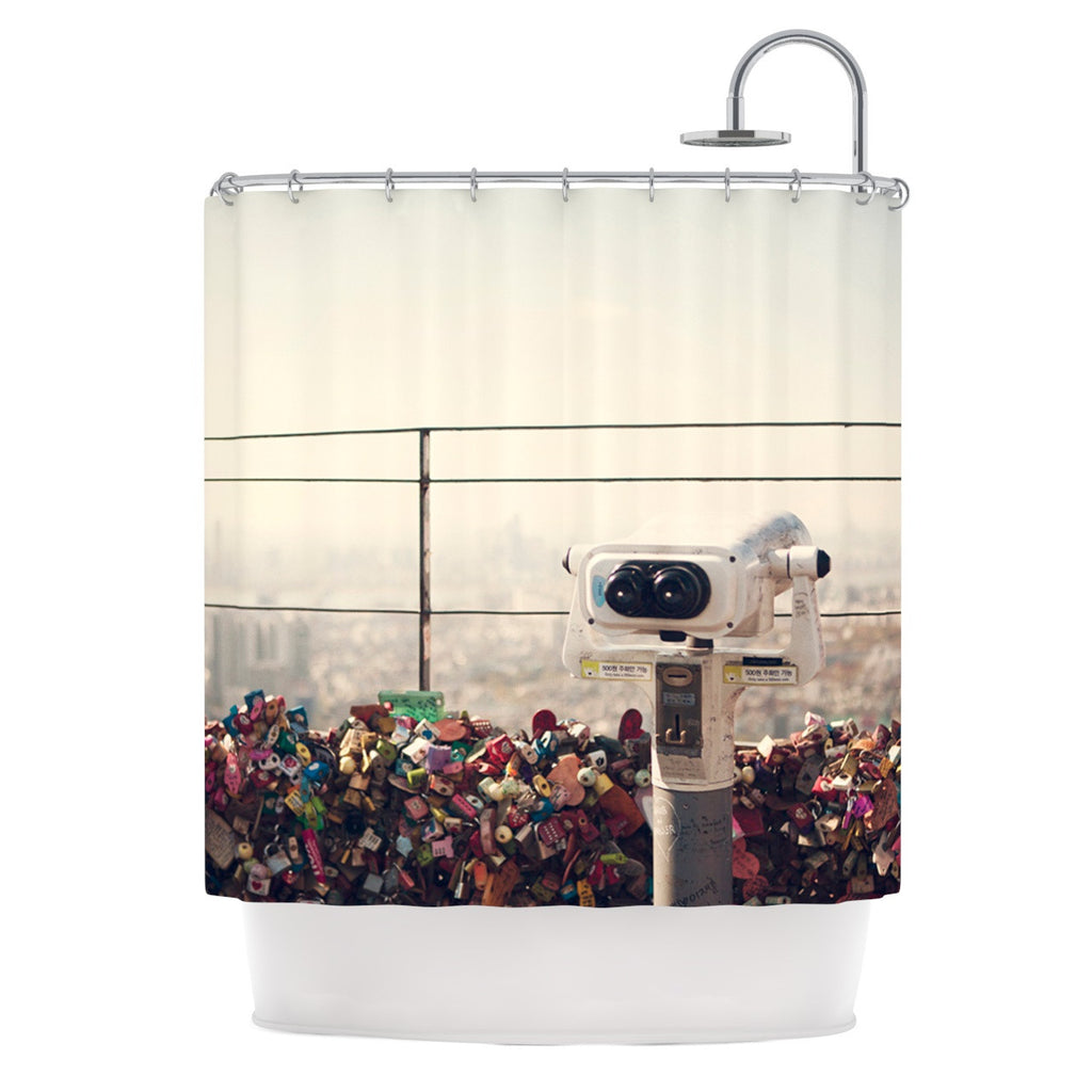 "Catherine McDonald ""The View Seoul"" Shower Curtain - KESS InHouse"
