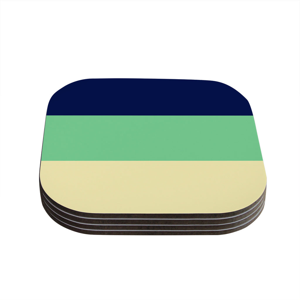 "Catherine McDonald ""South Pacific"" Coasters (Set of 4)"
