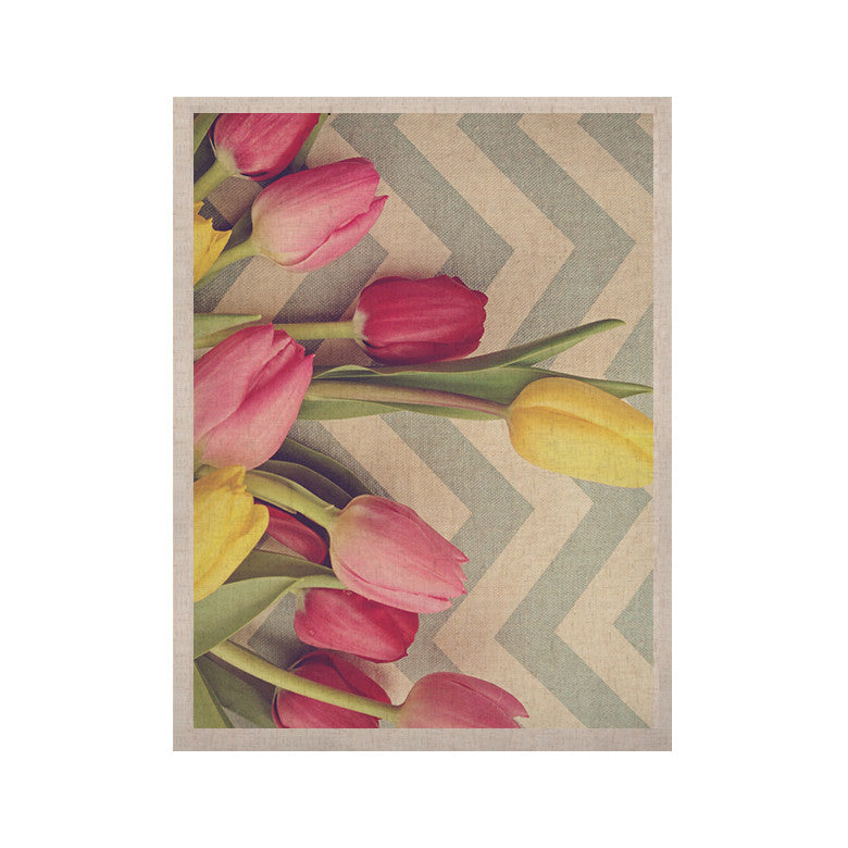 "Catherine McDonald ""Tulips and Chevrons"" KESS Naturals Canvas (Frame not Included) - KESS InHouse  - 1"
