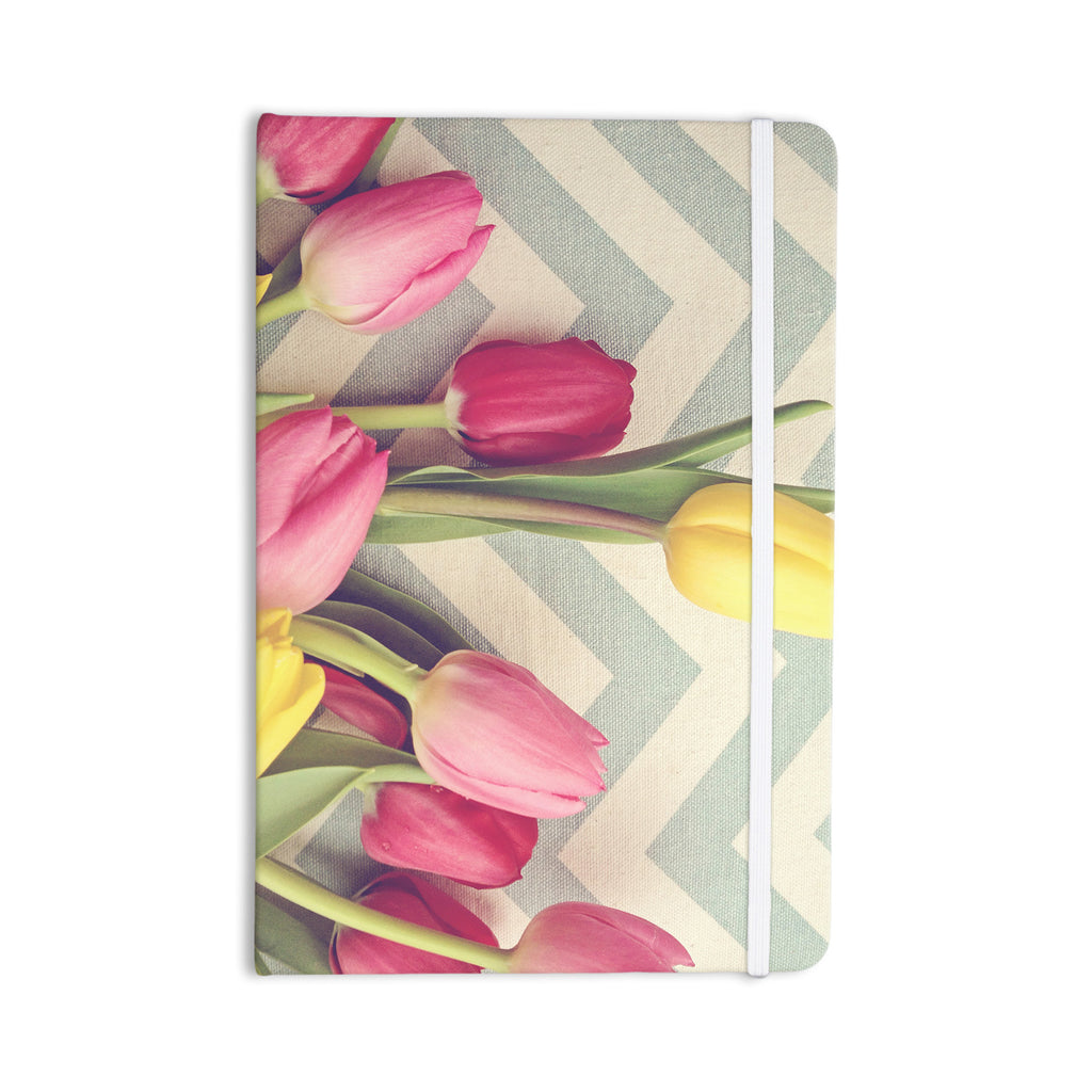 "Catherine McDonald ""Tulips and Chevrons"" Everything Notebook - KESS InHouse  - 1"