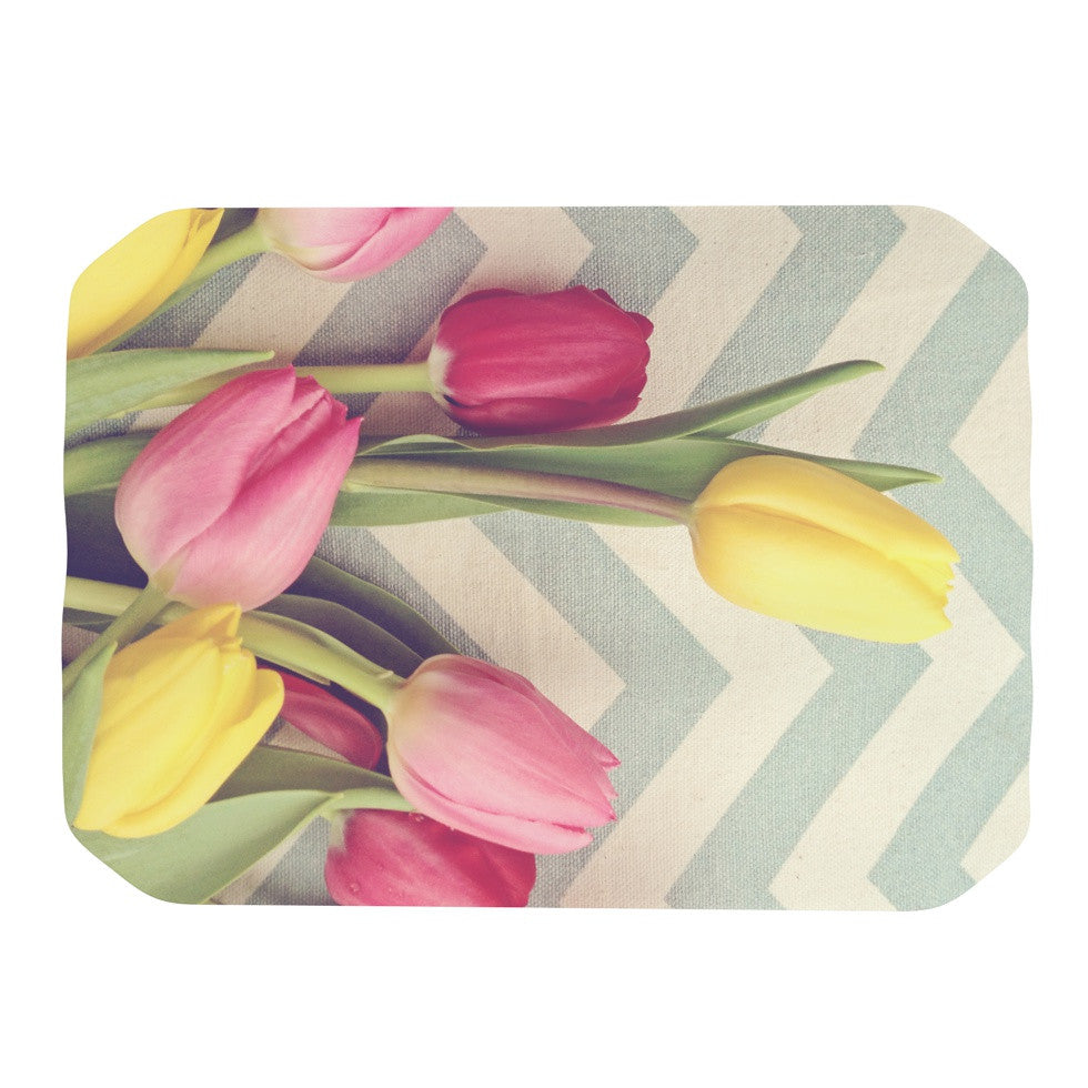 "Catherine McDonald ""Tulips and Chevrons"" Place Mat - KESS InHouse"