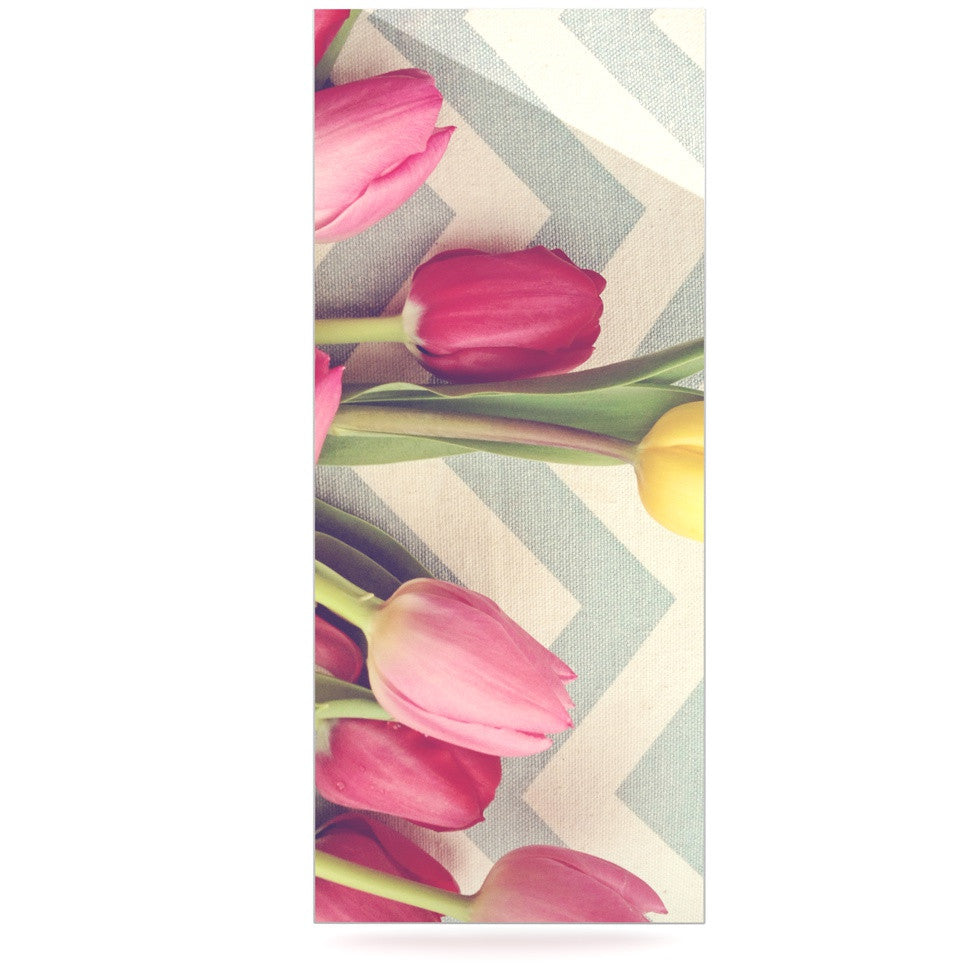"Catherine McDonald ""Tulips and Chevrons"" Luxe Rectangle Panel - KESS InHouse  - 1"