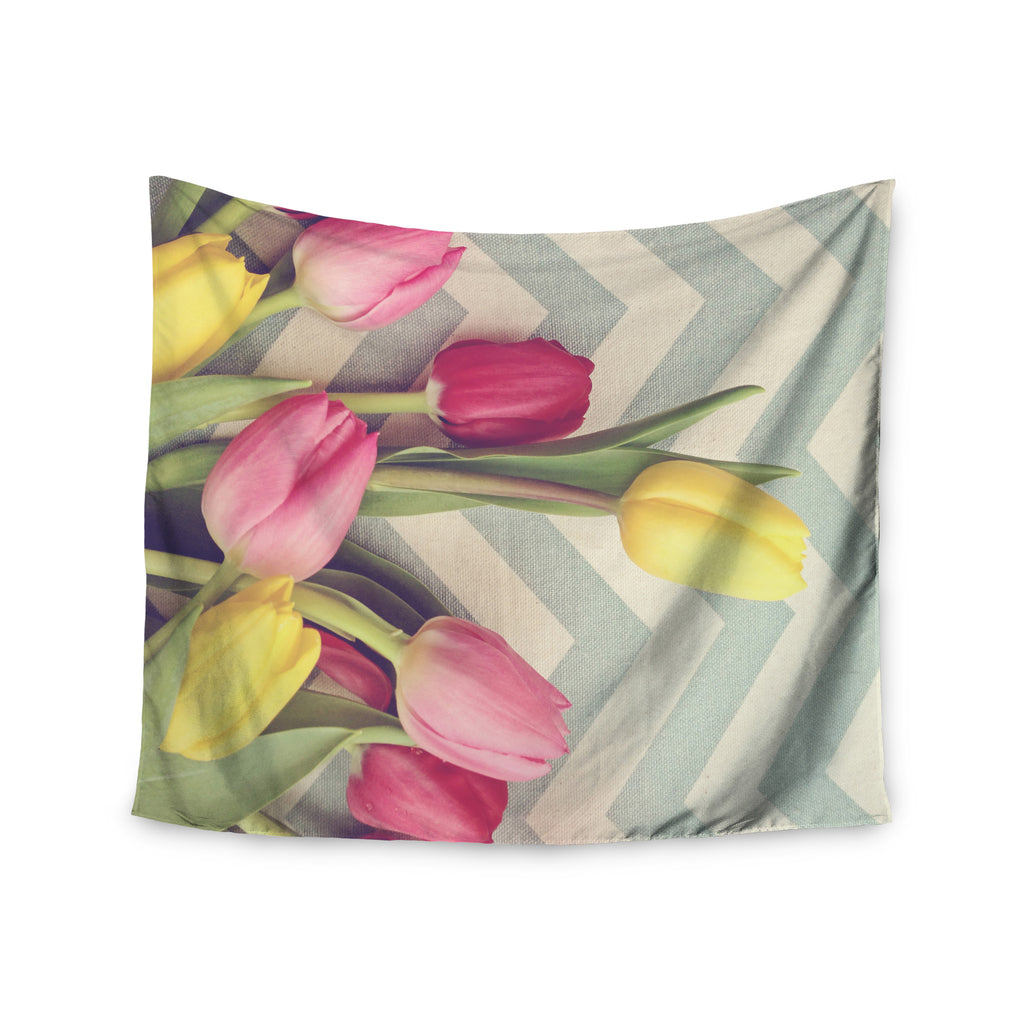 "Catherine McDonald ""Tulips and Chevrons"" Wall Tapestry - KESS InHouse  - 1"