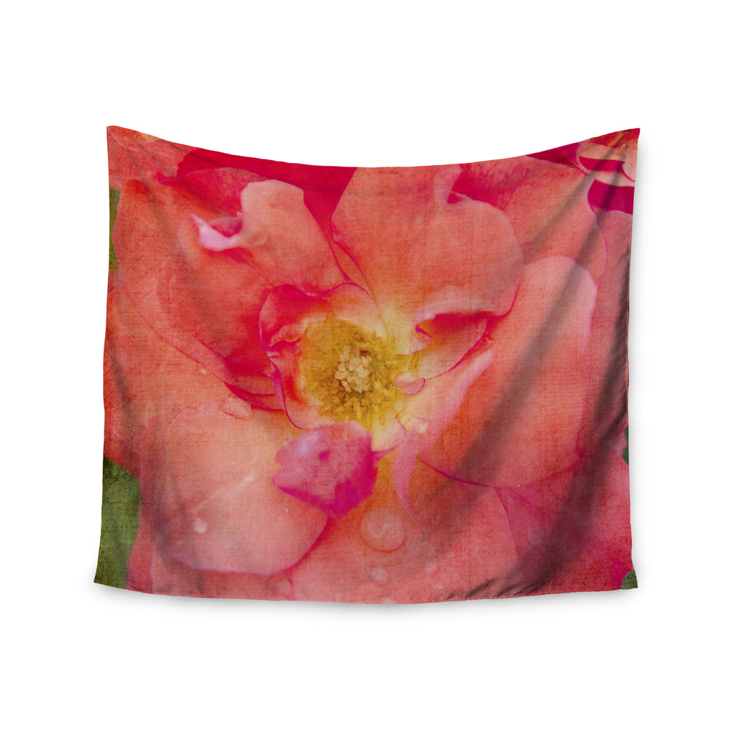 "Catherine McDonald ""Pink Rose"" Flower Wall Tapestry - KESS InHouse  - 1"