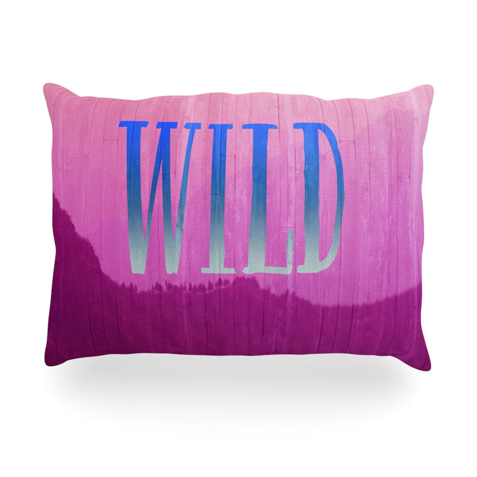 "Catherine McDonald ""Wild"" Pink Purple Oblong Pillow - KESS InHouse"