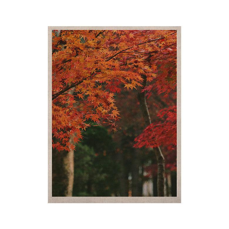 "Catherine McDonald ""Autumn Sonata"" Orange Green KESS Naturals Canvas (Frame not Included) - KESS InHouse  - 1"