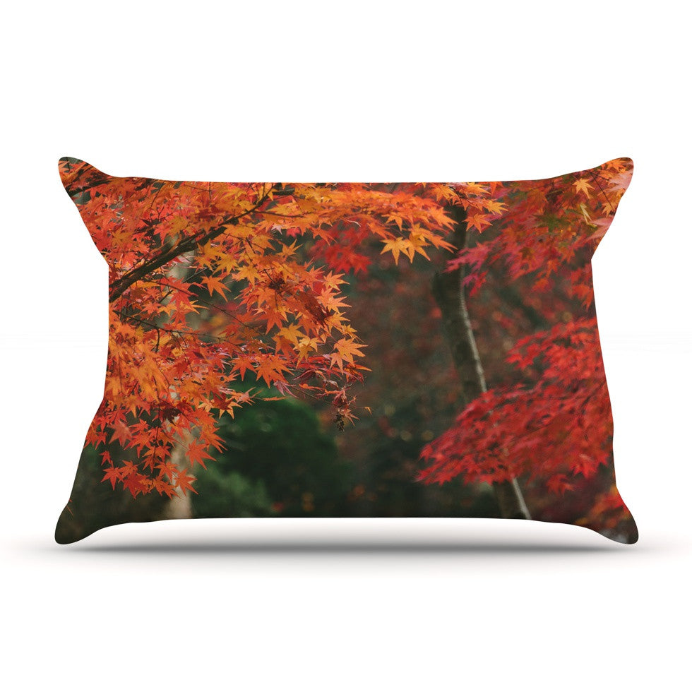 "Catherine McDonald ""Autumn Sonata"" Orange Green Pillow Sham - KESS InHouse"