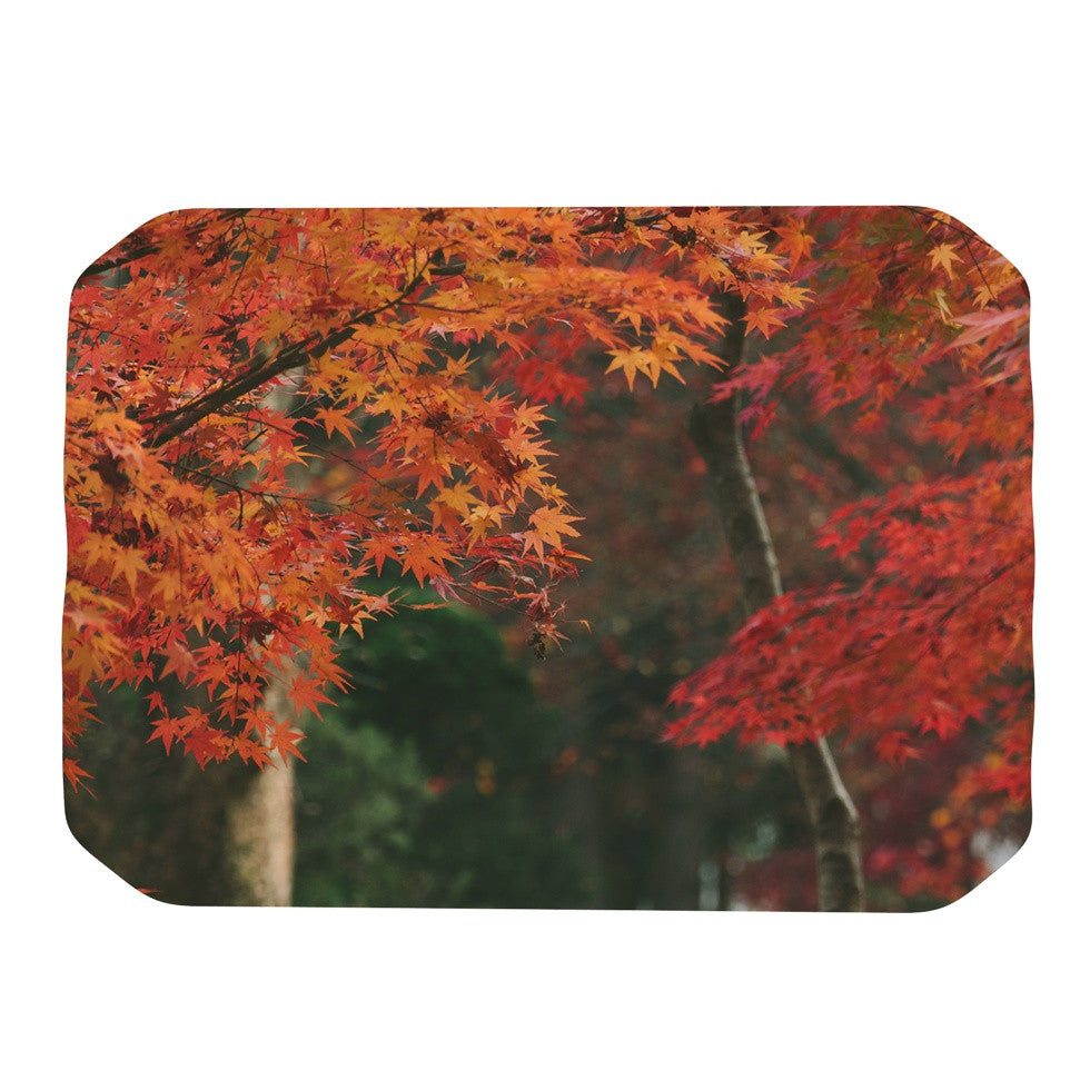 "Catherine McDonald ""Autumn Sonata"" Orange Green Place Mat - KESS InHouse"