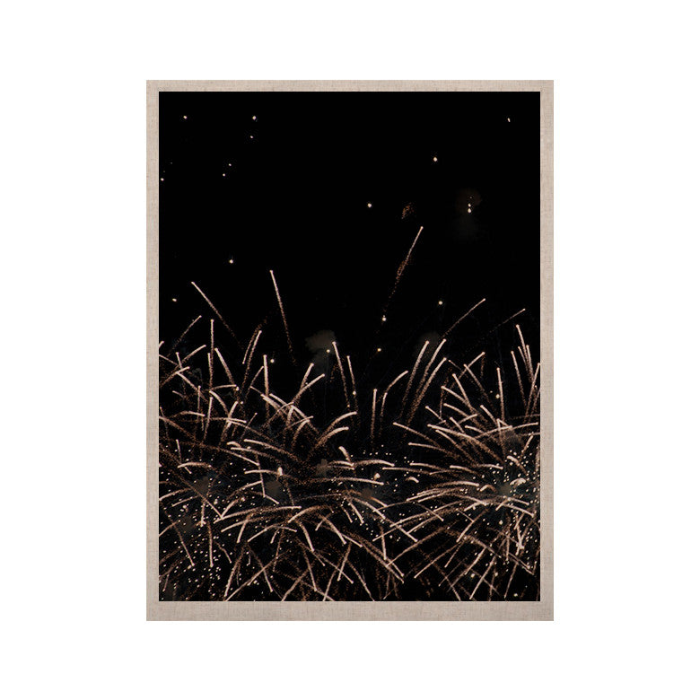"Catherine McDonald ""Fireworks"" Black White KESS Naturals Canvas (Frame not Included) - KESS InHouse  - 1"