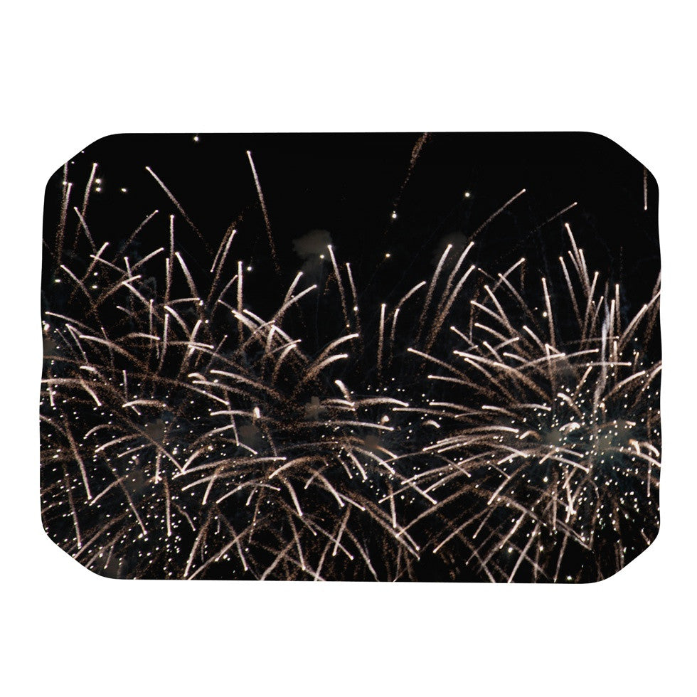 "Catherine McDonald ""Fireworks"" Black White Place Mat - KESS InHouse"
