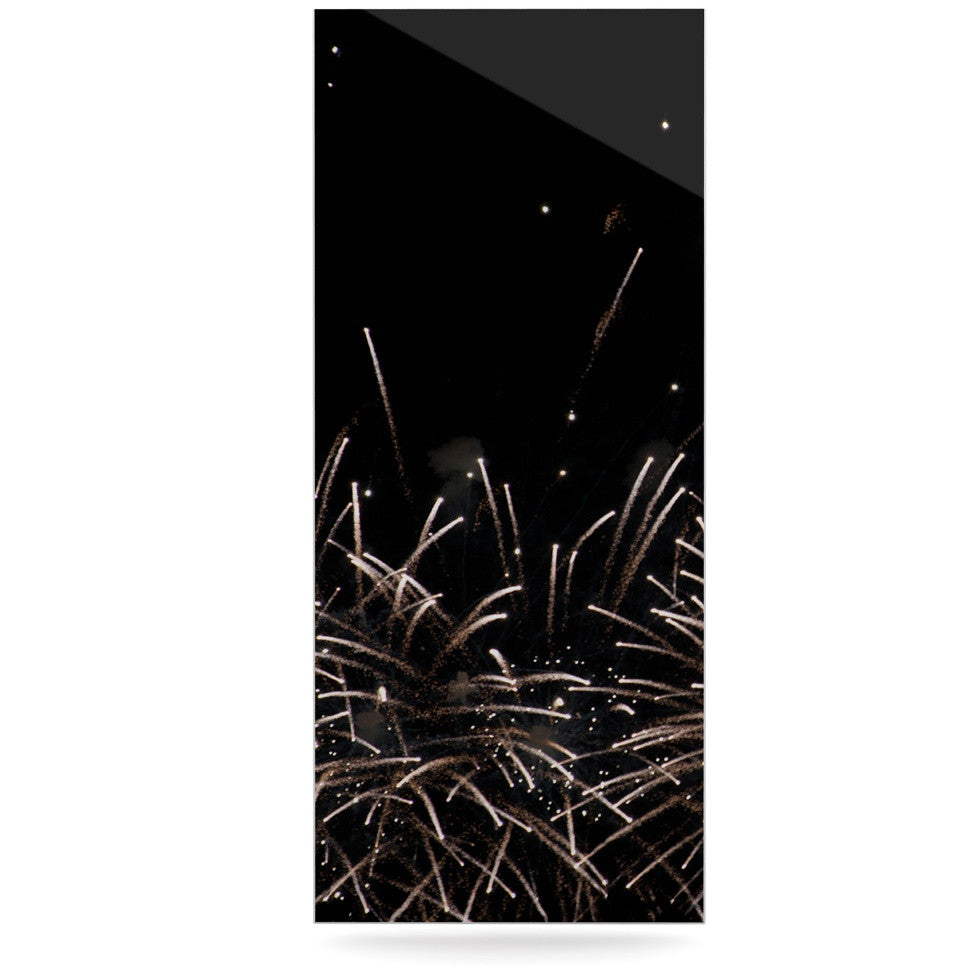 "Catherine McDonald ""Fireworks"" Black White Luxe Rectangle Panel - KESS InHouse  - 1"