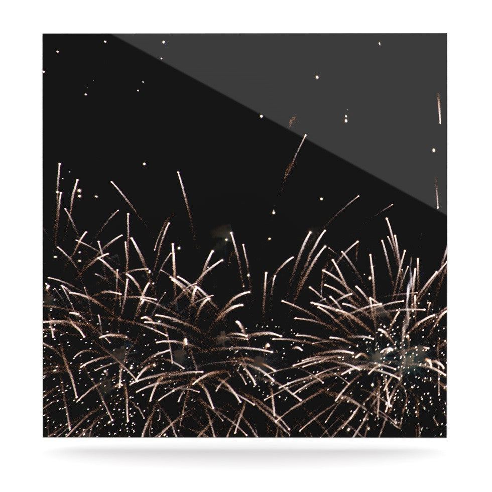 "Catherine McDonald ""Fireworks"" Black White Luxe Square Panel - KESS InHouse  - 1"