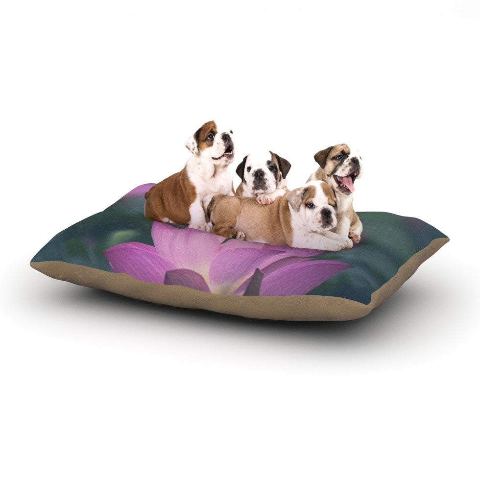 "Catherine McDonald ""Hope for Tomorrow"" Pink Green Dog Bed - KESS InHouse  - 1"